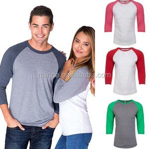 top selling online shop wholesale bulk cheap america unisex fitness custom raglan blank christmas raglan shirts couple t-shirt