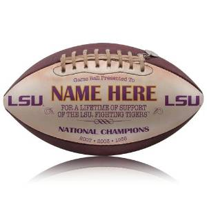 Get Quotations · LSU Tigers Personalized Throwback Football a32bb2e77