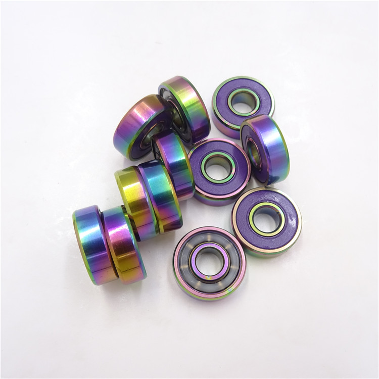 Colorful Rubber Seals Bearing 608 2RS Deep Groove Skateboard Bearing 608