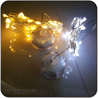 Copper wire light battery led candle light for trendy christmas gift