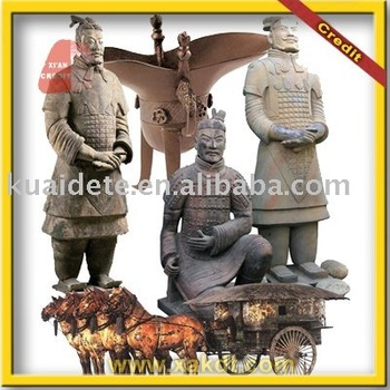Antique chinese clay art terracotta warriors for garden for Decoration jardin chinois