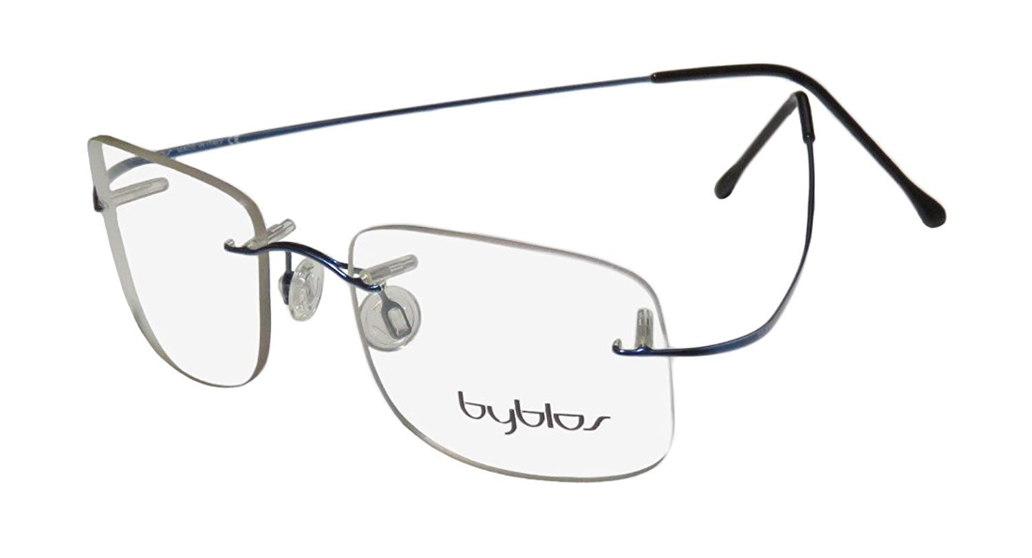 0de800e902 Byblos 746 Mens Womens Designer Rimless Eyeglasses Eye Glasses