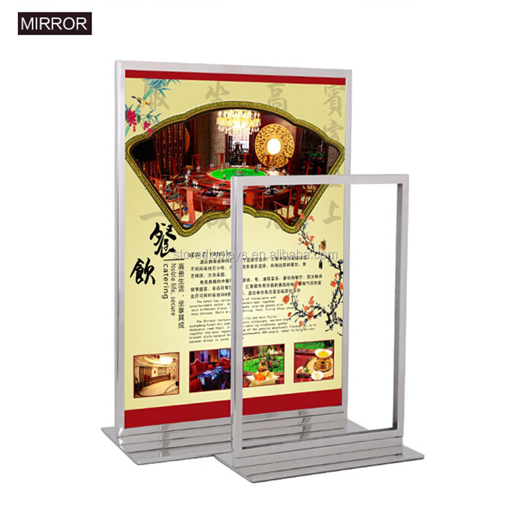 Metal Table A4 A5 Cardboard Advertising Poster Board Stands Display Stands