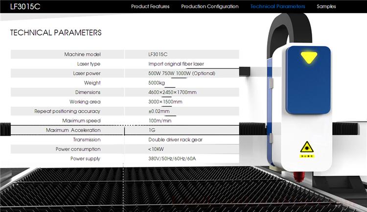 1000w Aluminum Composite Panel Tube Fiber Laser Cutting Engraving