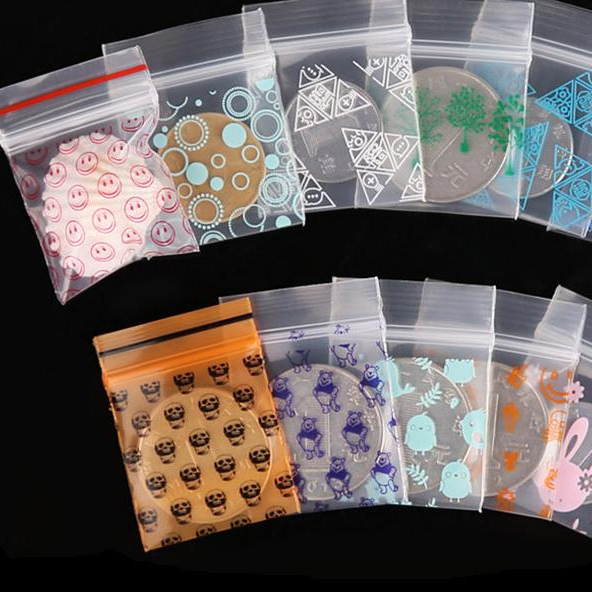 Clear Mini Plastic Zipper Pouch Zip Lock Plastic Bags LDPE ZIP LOCK Bag Custom Ziplock Bag With Logo Printing