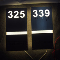 Illuminated House Numbers Led Hotel Door Signage Letters Sign