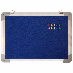 Fabric Message Blue Bulletin/ Board Cork Board/School Board With Aluminum Frame For Home Office Cubicle School Kids