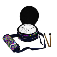 Wholesale therapy percussion musical instruments steel tongue drum, steel mini hang drum