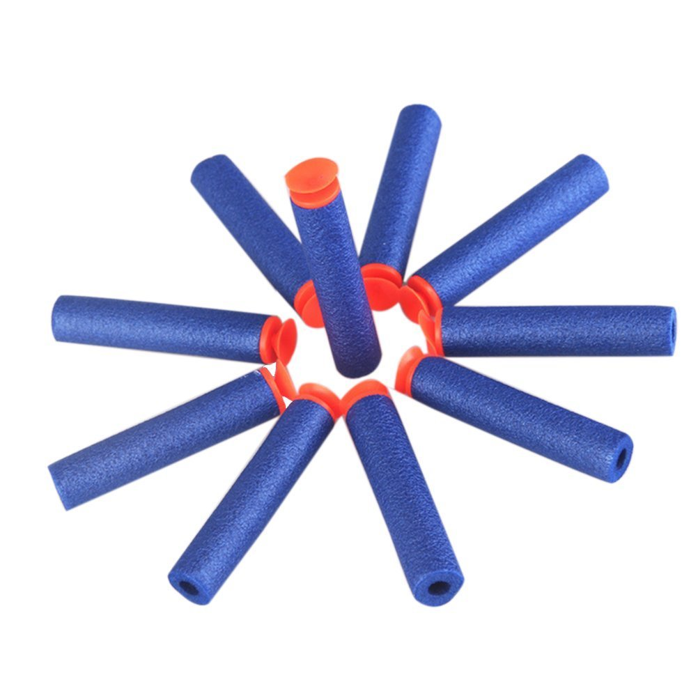 Tinksky 100pcs N-Strike Suction Darts EVA Darts for Nerf Blaster Toy Gun (Blue)