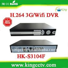 4chs video & audio DVR video capture usb dvr Support Wifi & Wireless 3G USB Modem 4ch DVR(HK-S3104F)