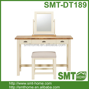 Simple Bedroom Dressing Table simple bedroom cherry wood kd dressing table with drawers & stool