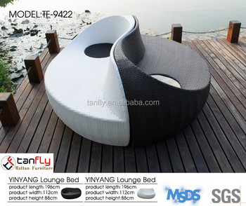 Bon Modern Chaise Lounge Furniture Yin Yang Outdoor Dual Lounger.