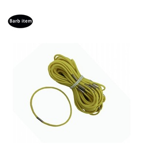 Customized Elastic Rubber Cord/String/Rope/Band with Metal Clips for Hair