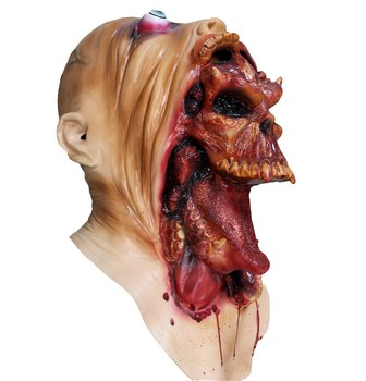 scary latex halloween mask alien deluxe latex plo koon mask