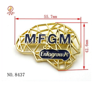Custom metal logo butterfly/metal button lapel pin with personalized logo from Jinzi Metal Co.