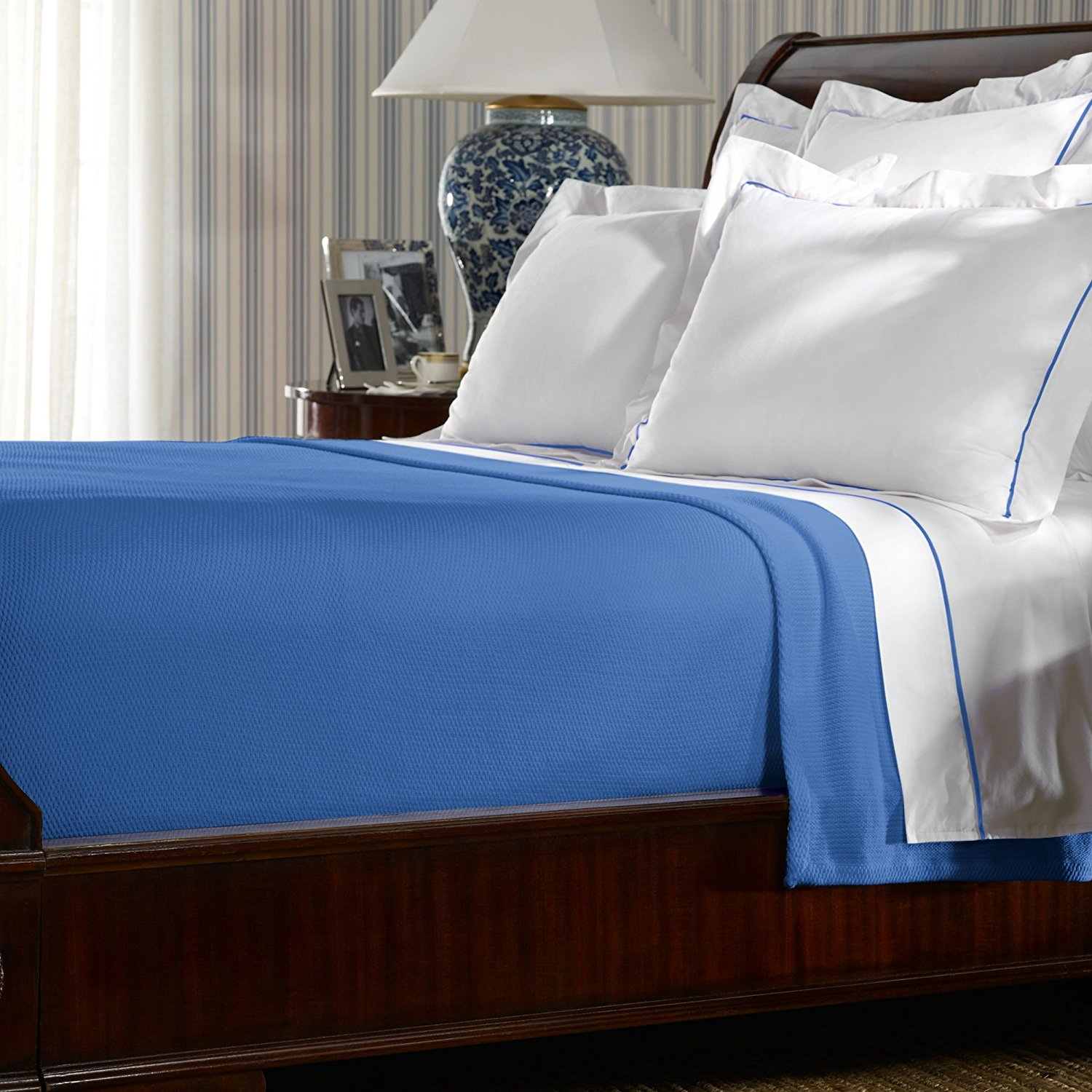Get Quotations Ralph Lauren Twin Palmer Blanket 66 X 90 French Blue