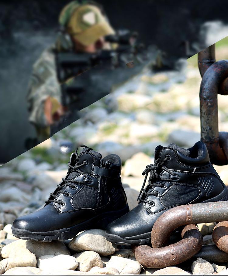 เดลต้ารองเท้ายุทธวิธีสไตล์อเมริกันรองเท้าทหารรองเท้ากองทัพรองเท้าสีดำ