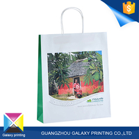 High quality professional manufacturer/printing factory printed kraft handle shopping paper bag