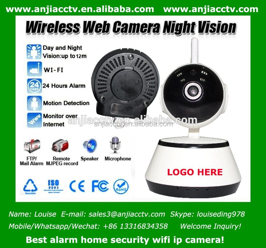 Install House CCTV Cameras IP P2p Night Vision Motion Detection Email Alarm IP Cam Network WiFi