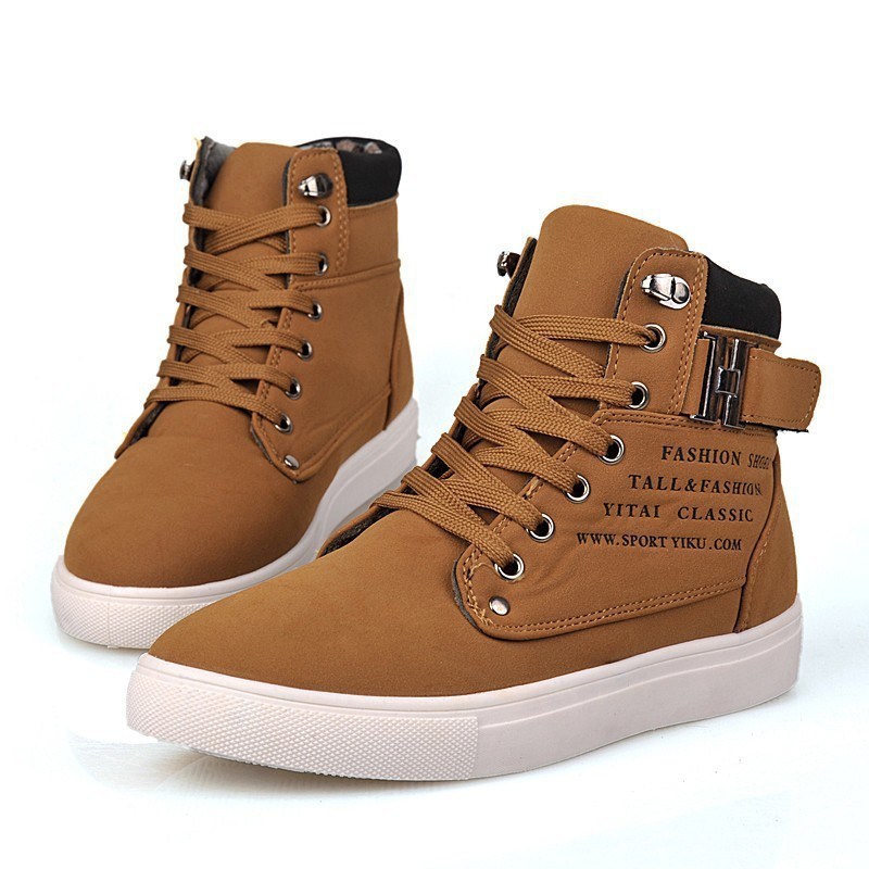 37c0c80b 2015 Hot Men Shoes Sapatos Tenis Masculino Male Fashion Spring Autumn  Leather Shoe For Men Casual High Top Shoes Canvas Sneakers