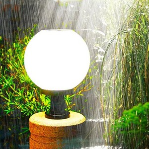 Globe Ball LED Light Source IP65 Solar Pillar Light for Garden Decoration Outdoor