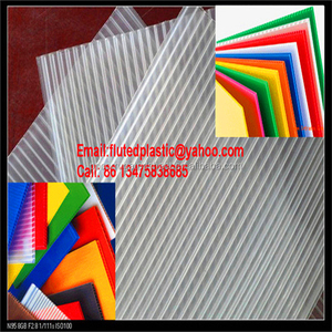 2mm 3mm 4mm 5mm transparent PP corruated plastic sheet/Corflute board/Coroplast plate
