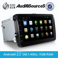 D90-9001 full touch screen 1 din android car dvd for VW golf V/Jetta 2 din car dvd with android can-bus car stereo touch monitor