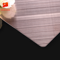 Factory Supply Brushed English Bronze Hairline Stainless Steel 304 Sheet Metal Fabrication