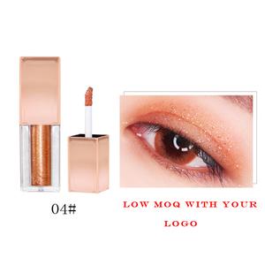 Wholesale cosmetics makeup 8 colors shimmer eye shadow waterproof liquid glitter eyeshadow