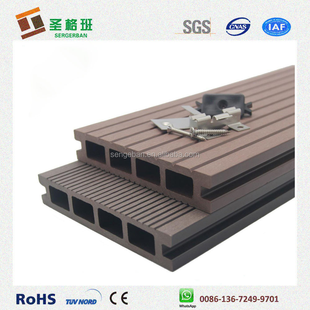 Used composite decking waterproof wpc flooring for The range decking boards