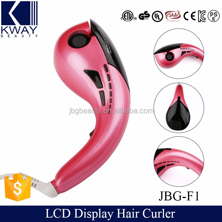 2016 Hot Steam Hair Curlers Rechargeable Mini Hair Curler With LCD Electric hair curler with CE certification