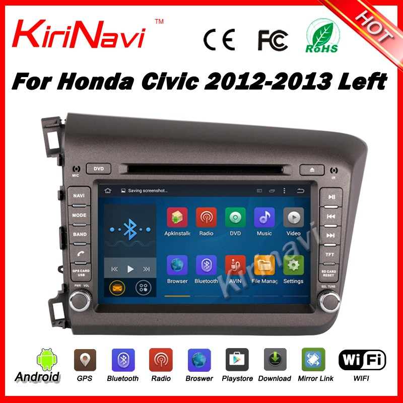 "Kirinavi WC-HC8201L <strong>android</strong> 5.1 8"" touch screen mp3 mp4 player for honda civic 2012 2013 can-<strong>bus</strong> car dvd stereo with wifi 3g SW"