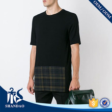Guangzhou Shandao low price Plaid shirt O-neck 180g 100% Cotton short sleeve t shirt yiwu