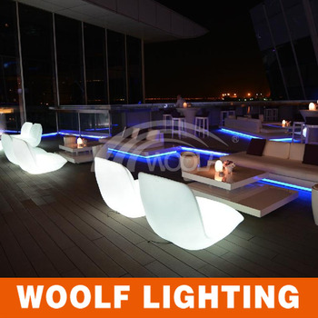 Modern Indoor And Outdoor Hotel Bar Used Leisure Led Light Up Sofa Furniture