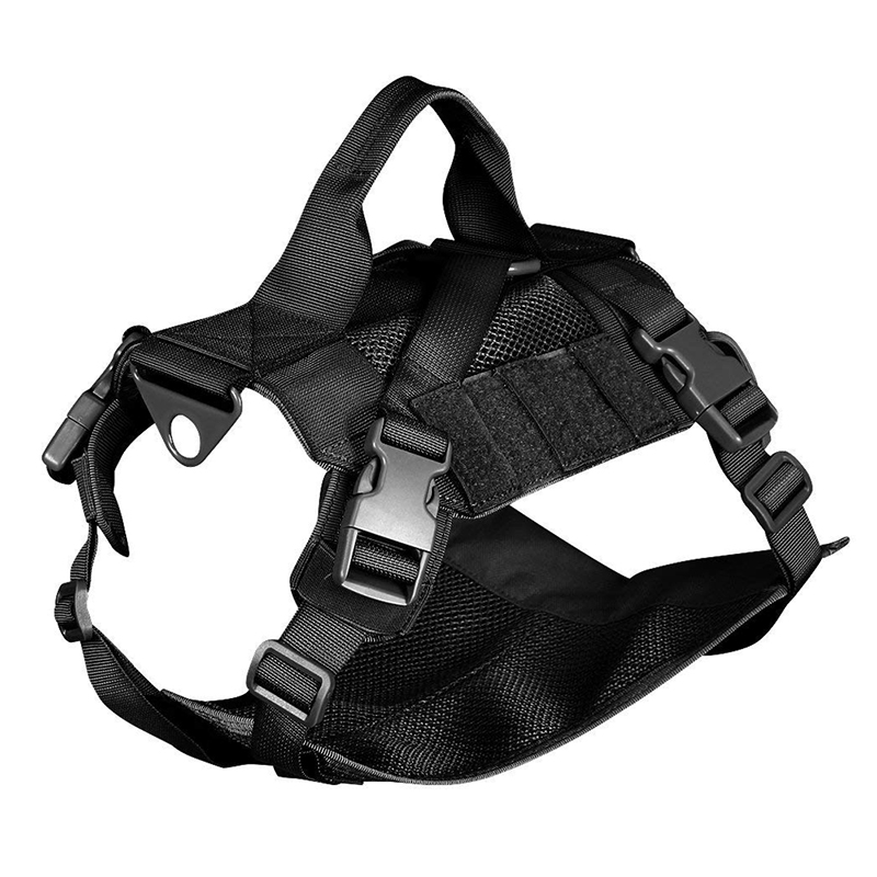 Tactical Military Molle Dog Vest Adjustable No Pull Dog Training Harness