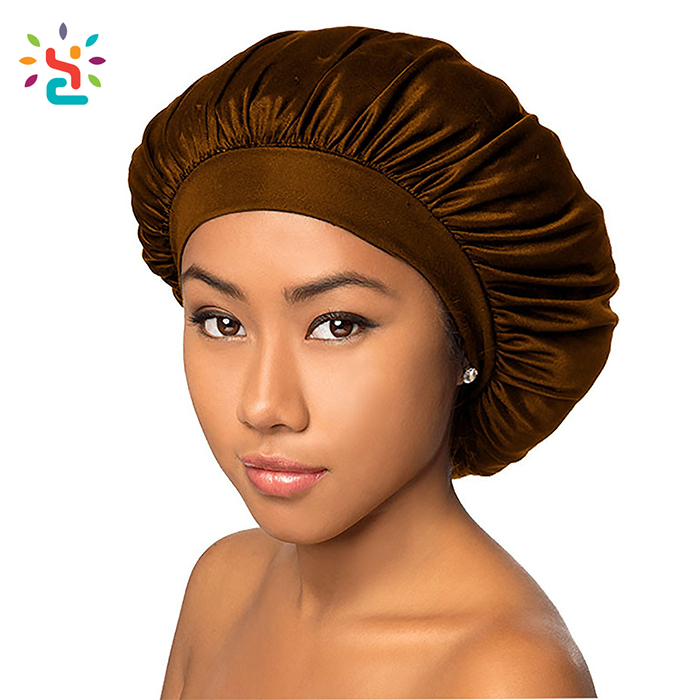 Wholesale bonnet femme bonnet perte de cheveux larger size sleep caps shower cap hair satin bonnet for women girls