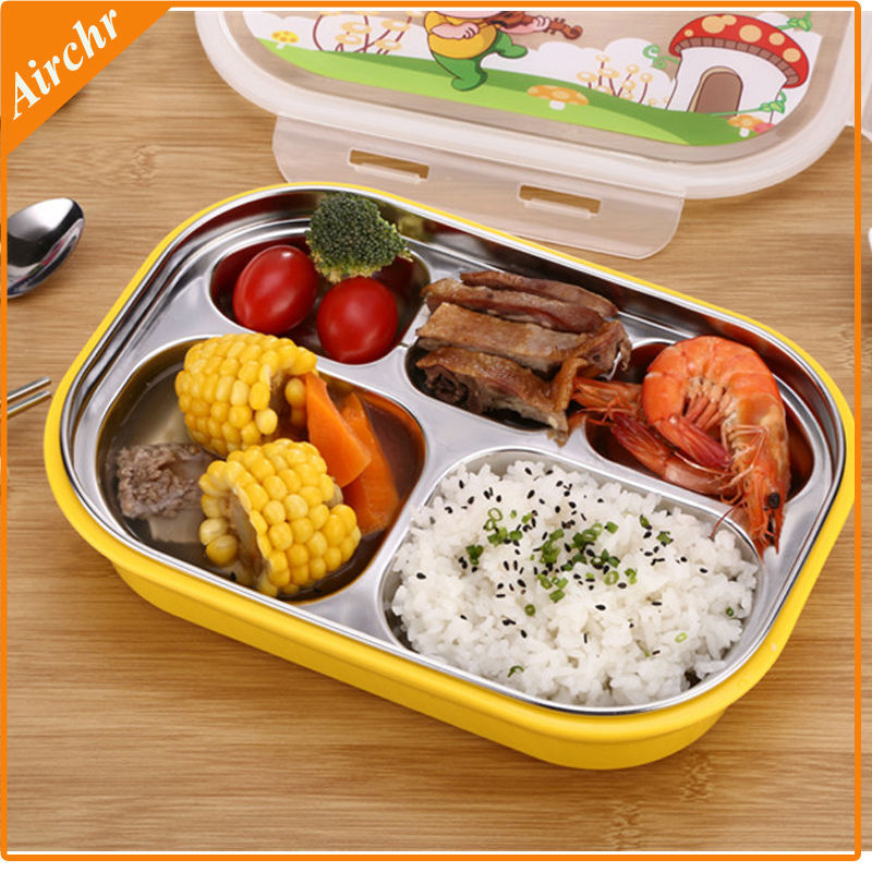 high quality bento lunch box 304 stainless steel lunchbox kids dinnerware set cute bento box. Black Bedroom Furniture Sets. Home Design Ideas