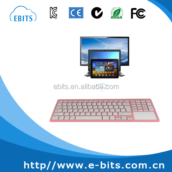 Arabic/ Russian/ Spanish layout universal bluetooth keyboard with touchpad