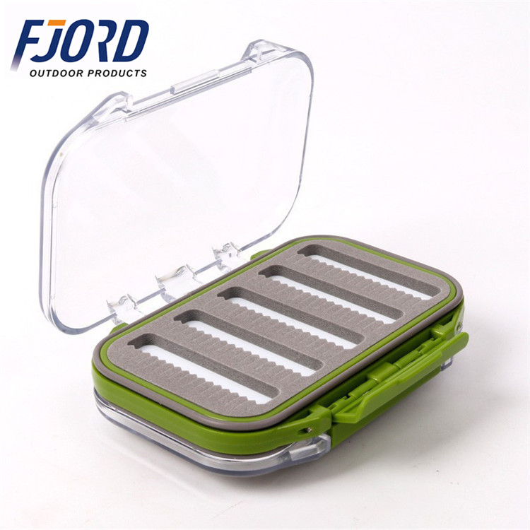 FJORD Storage and Waterproof Fly Fishing Lure Bait Hook Case with ABS Plastic Foam Fishing tackle box, Same as pictures