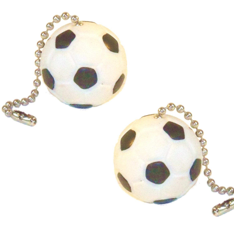 Sports Ball Ceiling Fan Pull Chains (Soccer Ball Pair)