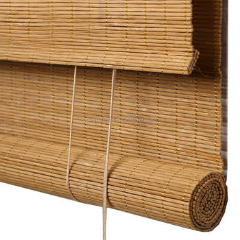 Bamboo window blind shade roller and roman type
