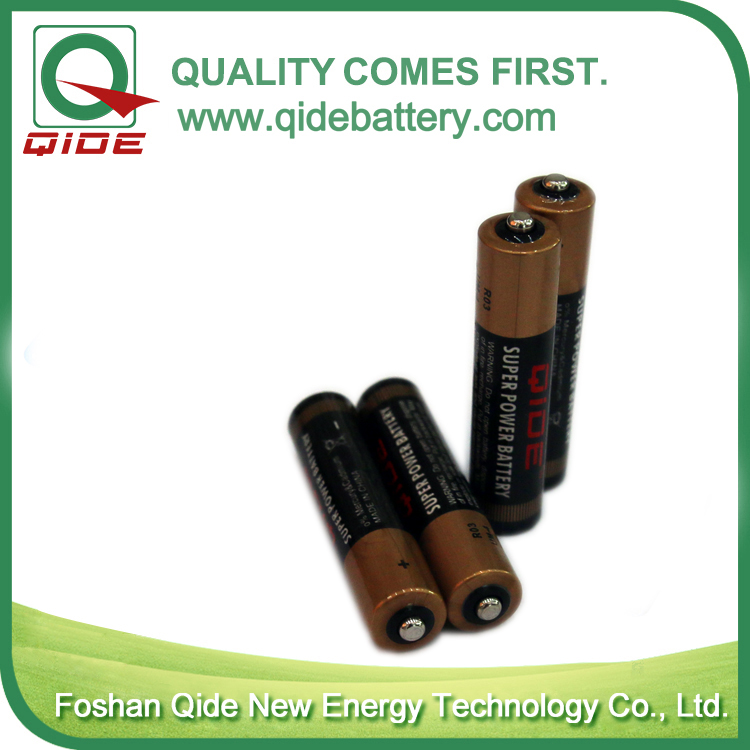 0%Hg AAA Size R03 Zinc Carbon Battery for Lighting