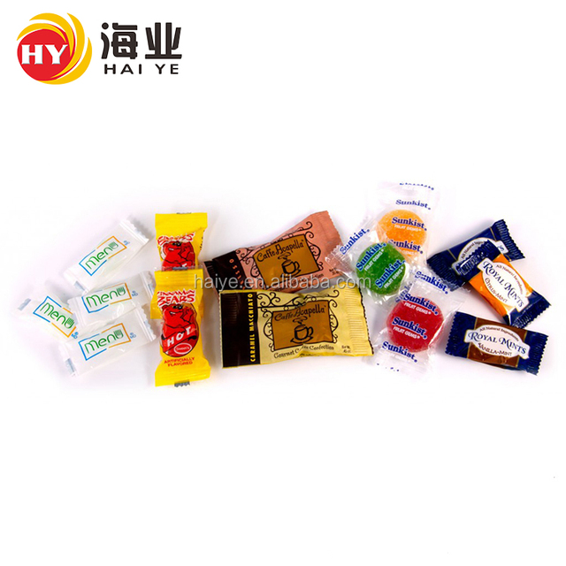 The most popular OEM candy packaging film bale wrap plastic with low price