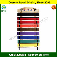 10 karate belt Display Rack with Wood Frame YM1-1113