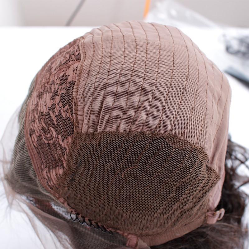 העליון 7א הציון הטוב ביותר מלא צפיפות בתולה BrazilianThick אדם שיער פאה פאה תחרה מלא זולים אדם שיער פאה הקדמי של תחרה Glueless הפאה