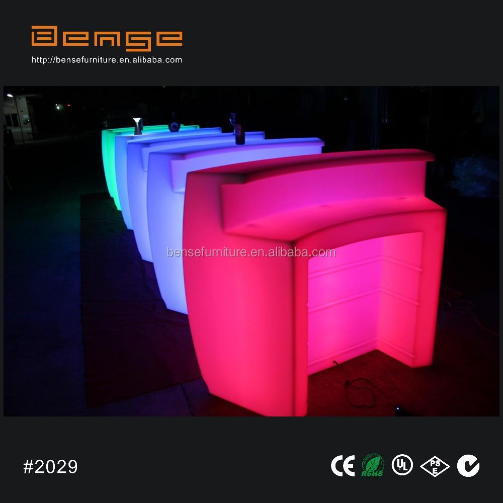 yuvarlak çubuk tezgah ışık bar mobilya led masa mobilya-Katlanır ...