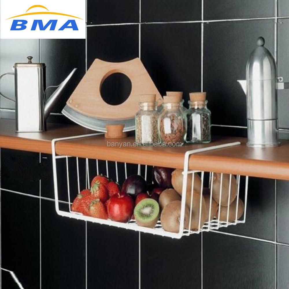 الجملة اكسسوارات المطبخ تحت الرف تخزين المطبخ سلة معدنية