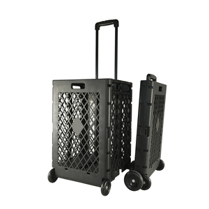 Plastic Foldable Utility Stair Climbing Trolley Cart