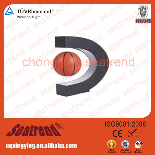 Wholesale Powerful Rotation Customize Logo Sweet Gift Wedding Souvenir Electronic Products Basketball Maglev Display Shelf