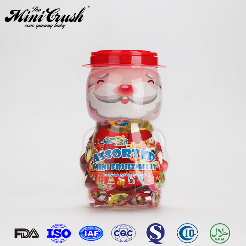 Christmas candy santa toy with fancy sweets jelly candy